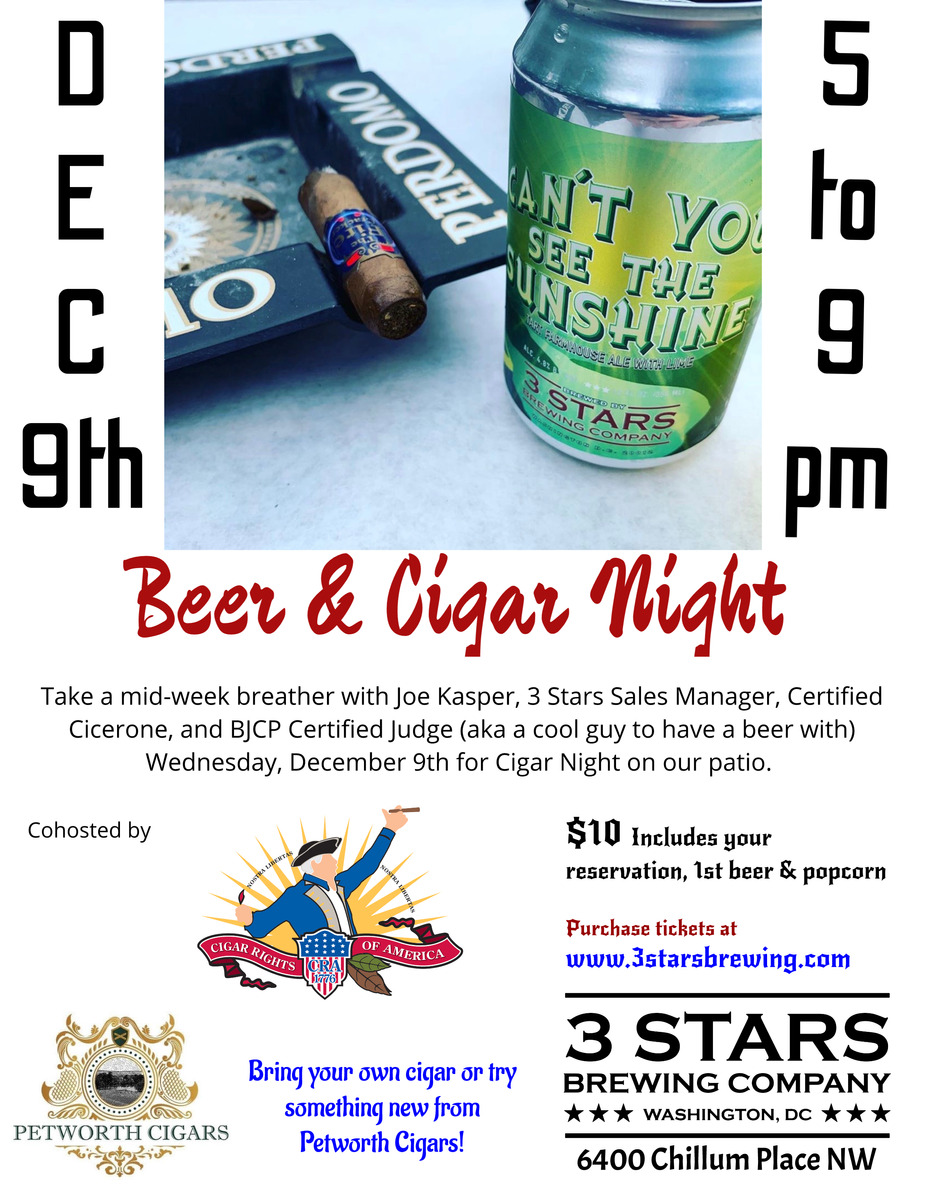 Cigar & Beer Night on the Patio event photo