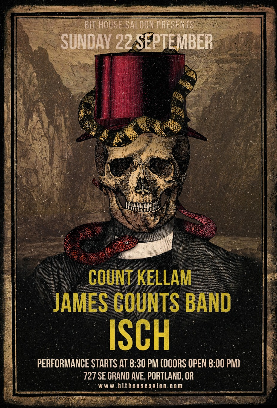 Count Kellam, James Counts Band, ISCH event photo