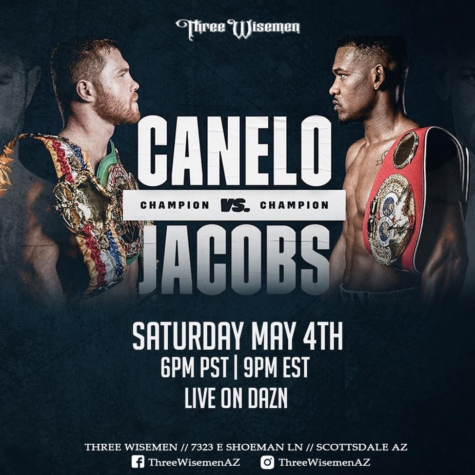 Canelo vs Jacobs Champion vs Champion at Three Wisemen event photo