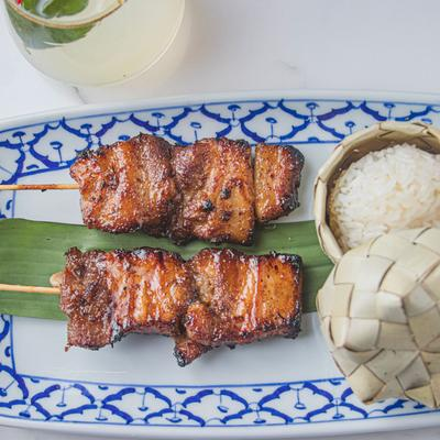 Grilled Pork Belly Skewers photo
