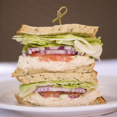 Club sandwich closeup