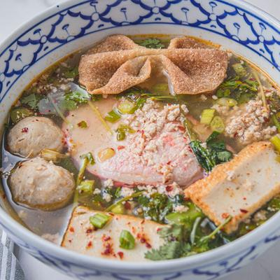 Spicy Pork Noodles Soup photo