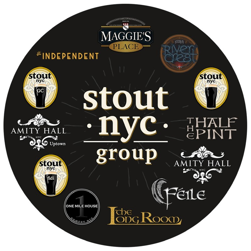 All of the sister restaurants in the Stout NYC Group