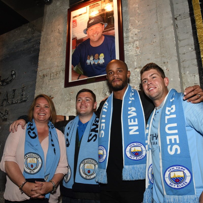 Manchester City Player visit with Fans at Amity Hall