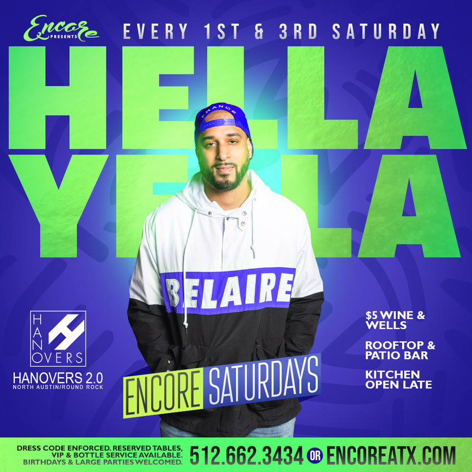 Encore Saturdays | 8.1  9pm - 230am event photo