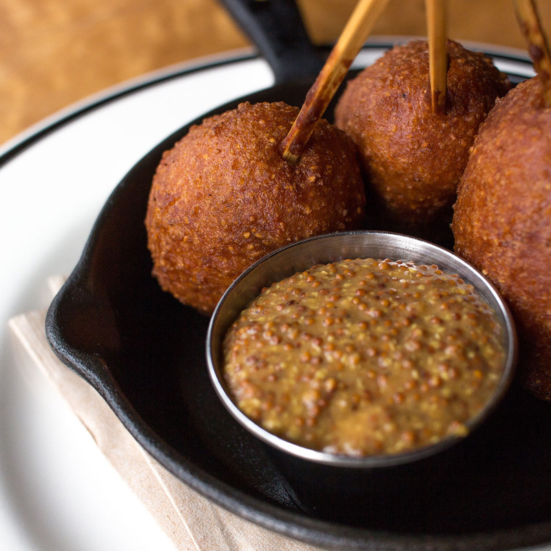 House-made Andouille Sausage Corndogs