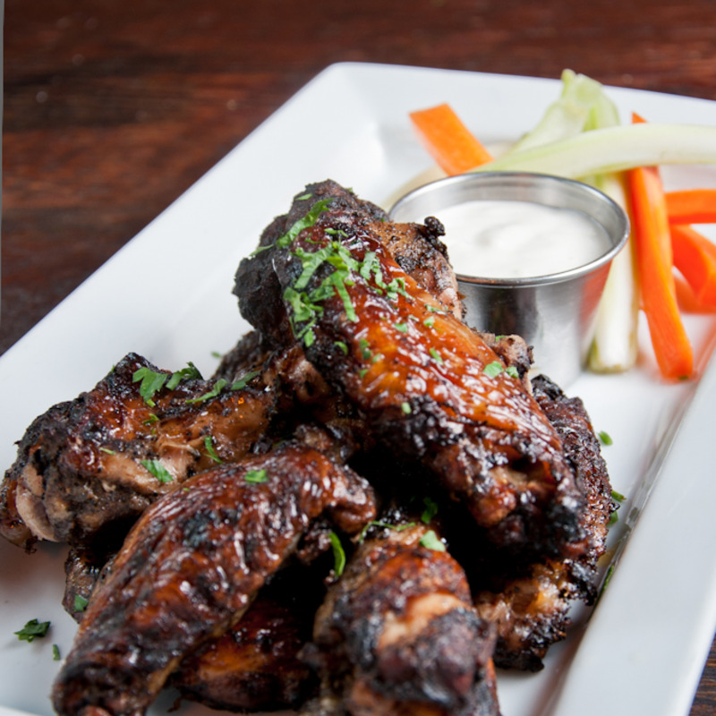 Jerk WIngs on a plate