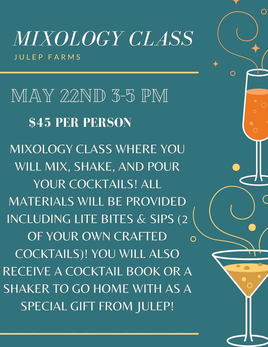 MIXOLOGY CLASS event photo
