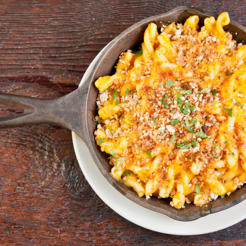 Chipotle mac n cheese served at both locations