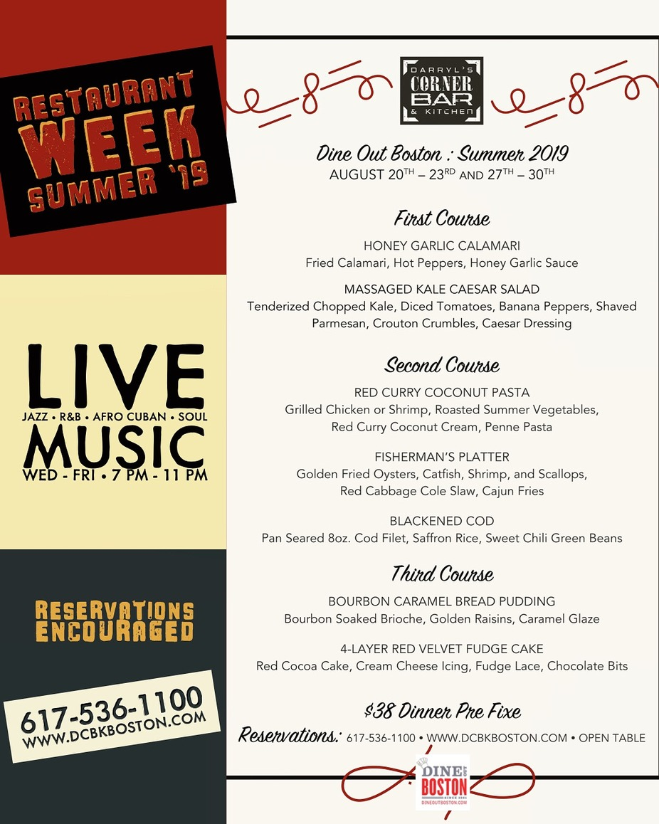 Restaurant Week Special: August 20 - 23 event photo