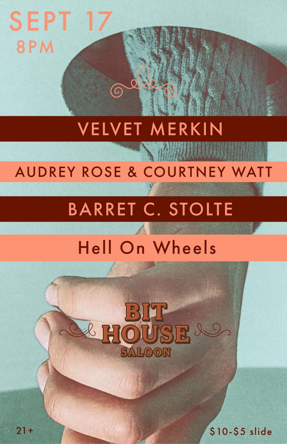 Velvet Merkin, Audrey & Courtney, Barret Stolte, Hell On Wheels event photo