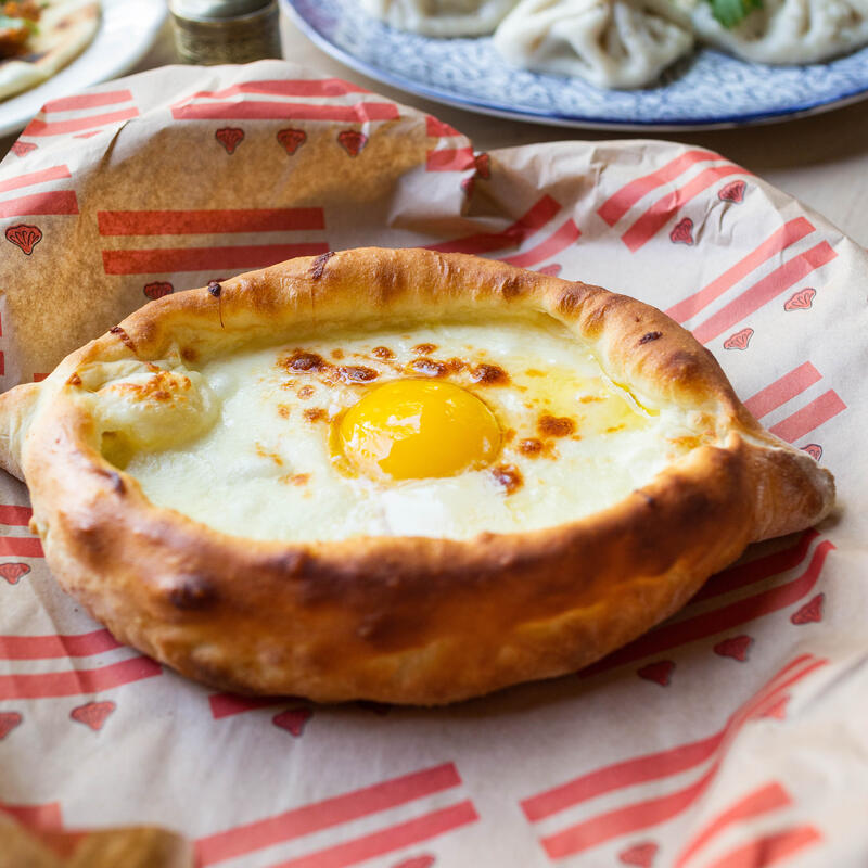 Fried egg in pastry