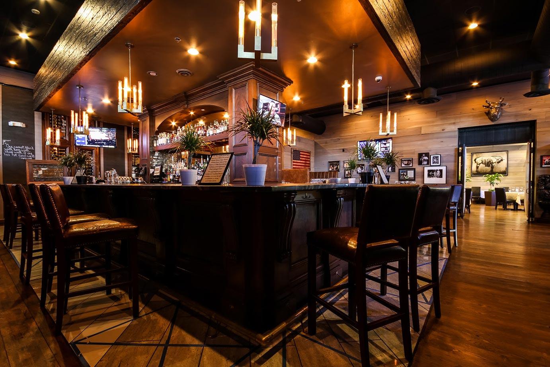 Bar inside the restaurant