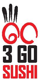 3Go sushi logo top