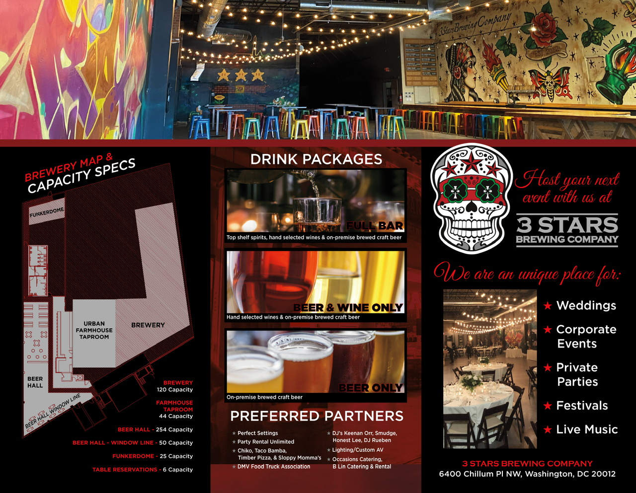 Drink packages flyer