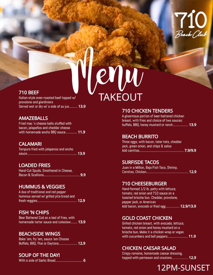 menu takeout flyer
