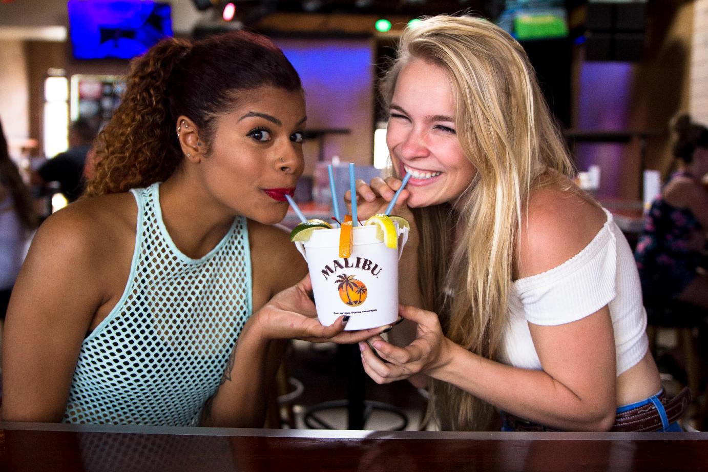 Girls drinking cocktail