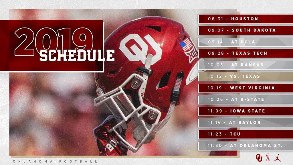 2019 Schedule calendar