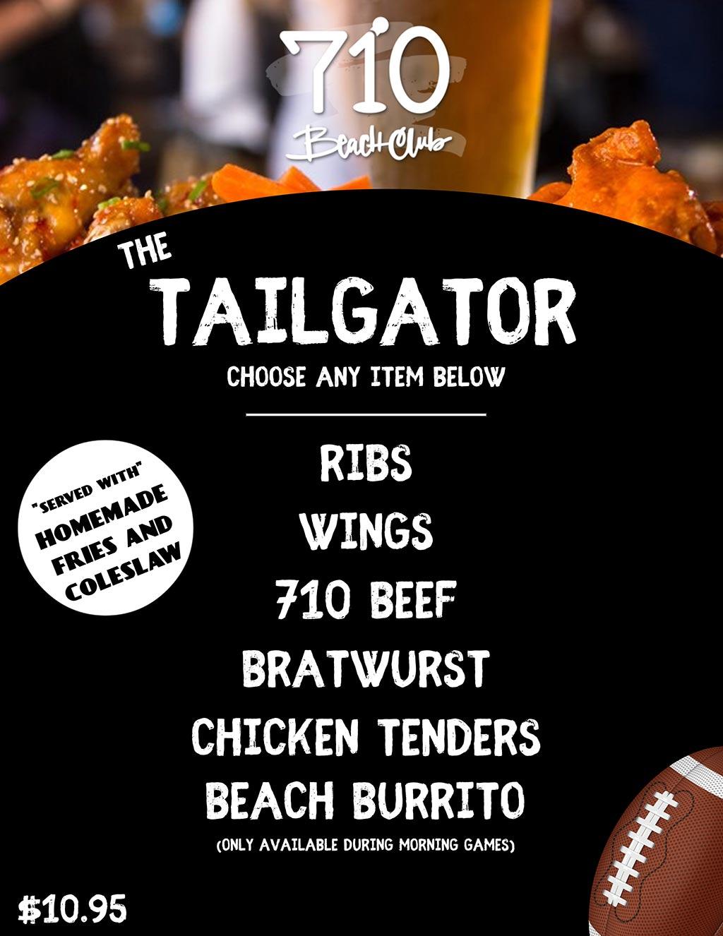 Taligator Specials flyer