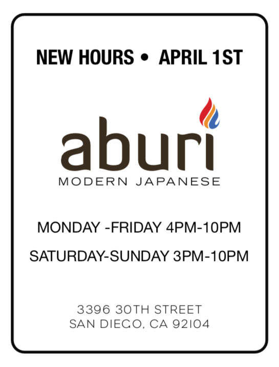 new hours info
