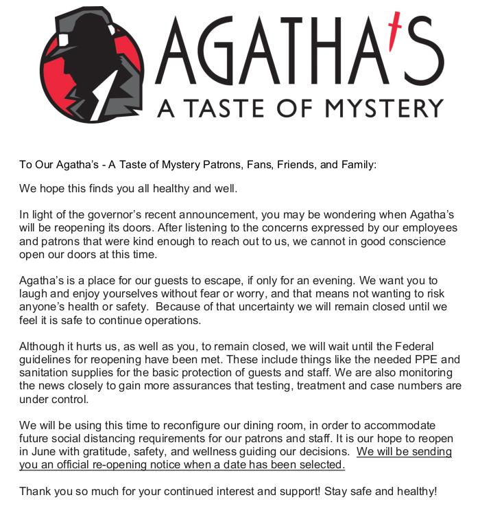 agathas info flyer