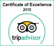 Trip Advisor Certificate of Excellence 2018 badge