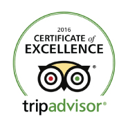 Tripadvisor's certificate of excelence for 2016