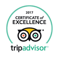 Tripadvisor's certificate of excelence for 2017