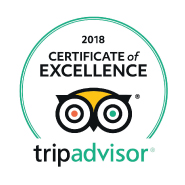 Tripadvisor's certificate of excelence for 2018