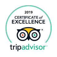 Tripadvisor's certificate of excelence for 2019