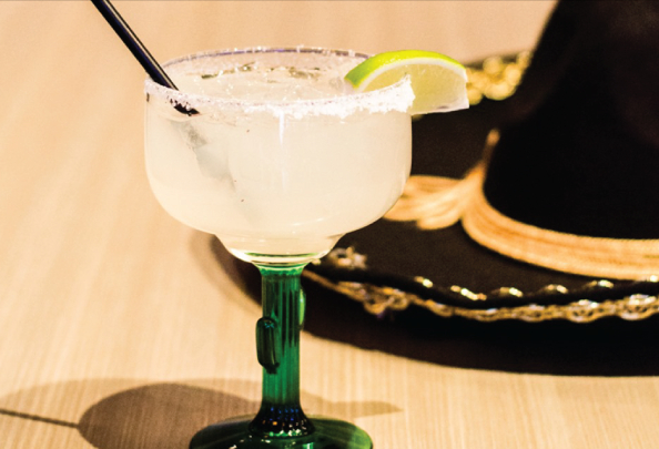 Margarita and sombrero