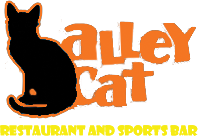 Alley Cat restaurant and sport bar logo scroll