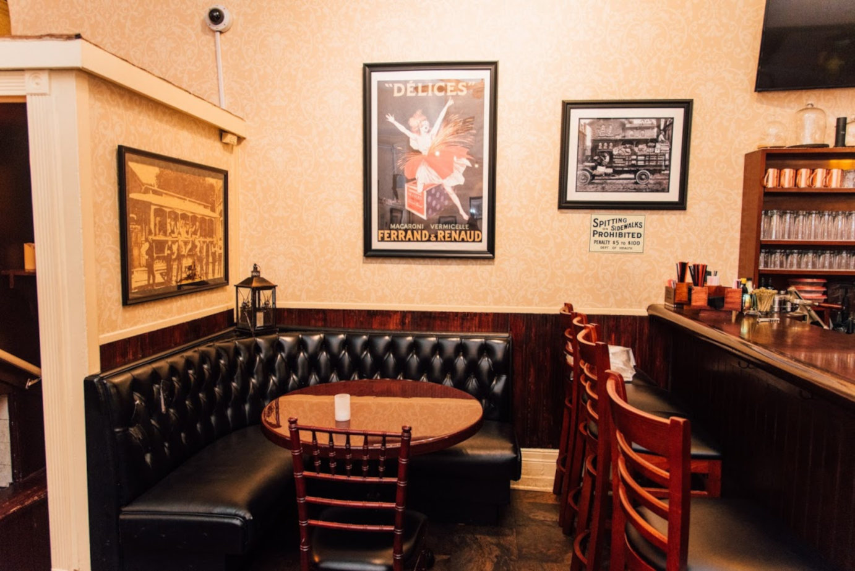Private corner seating area