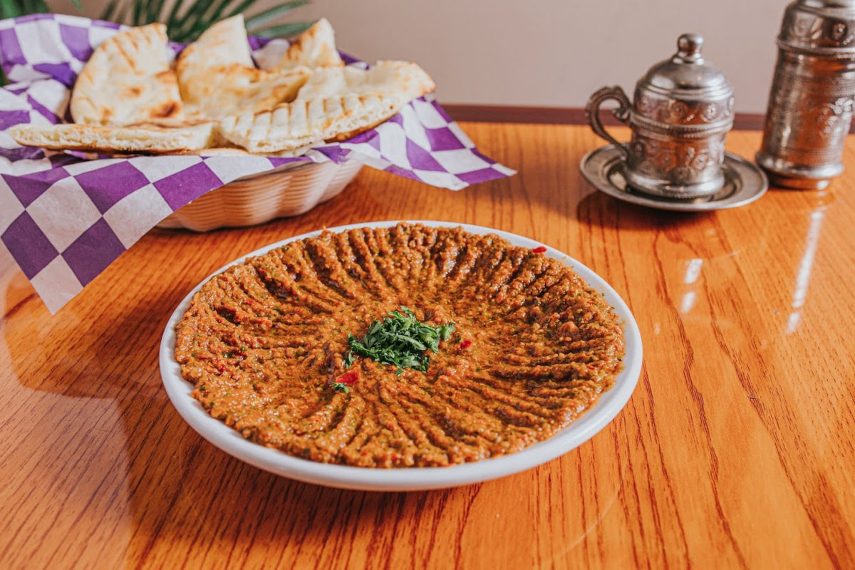 Dip with spices and decorations