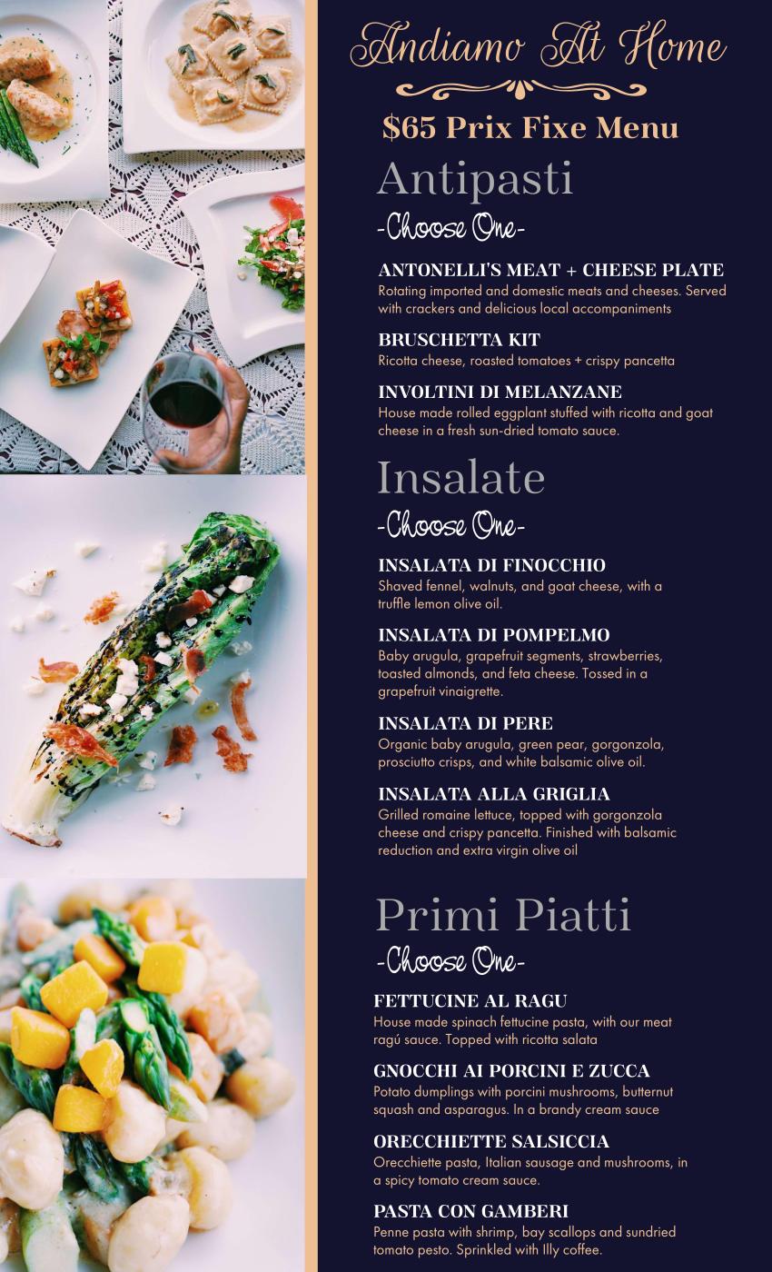 andiamo menu 2020 page 1
