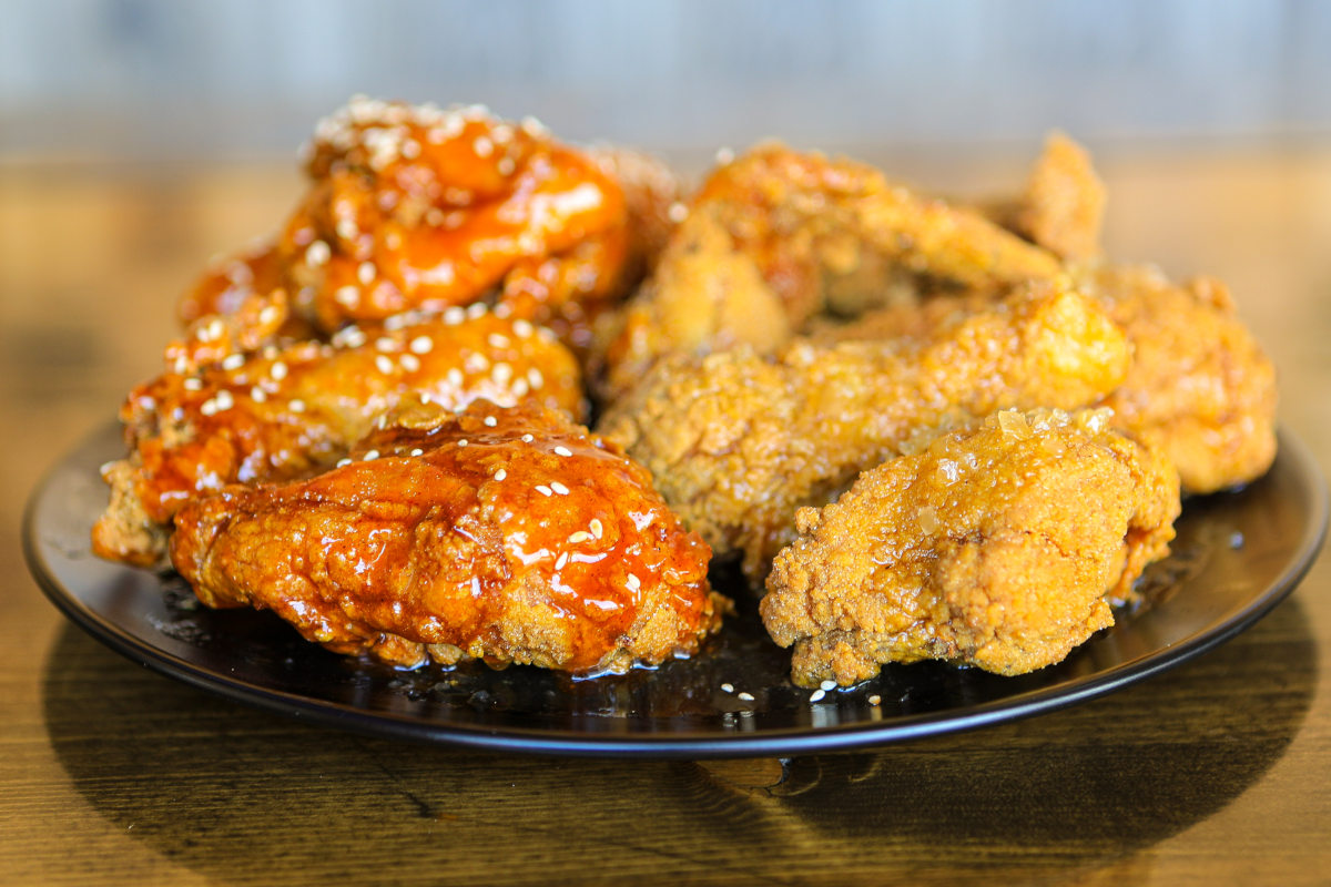 half and half, chicken original, sweet and spicy
