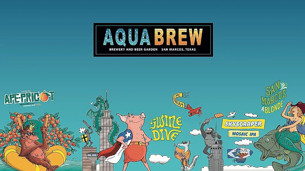 Different beer brands depicted with animals