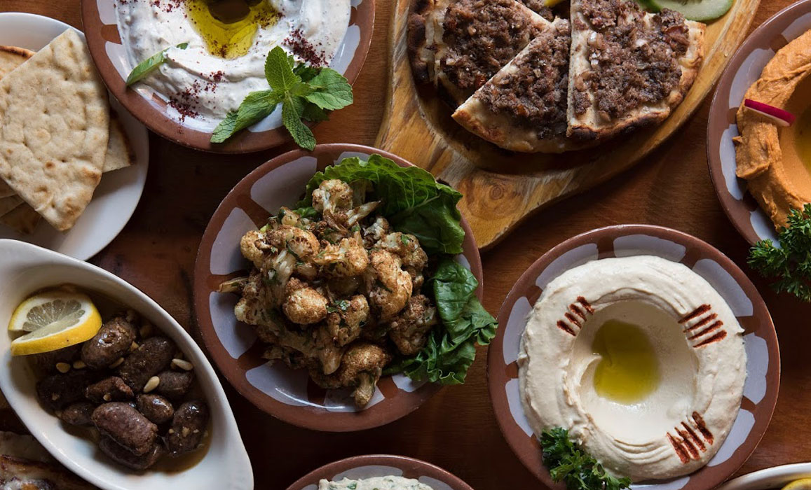 Lebanese food feast