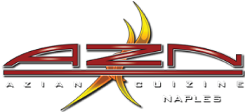 AZN Azian Cuizine Naples logo scroll