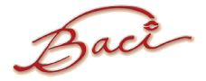 Baci Restaurant logo scroll