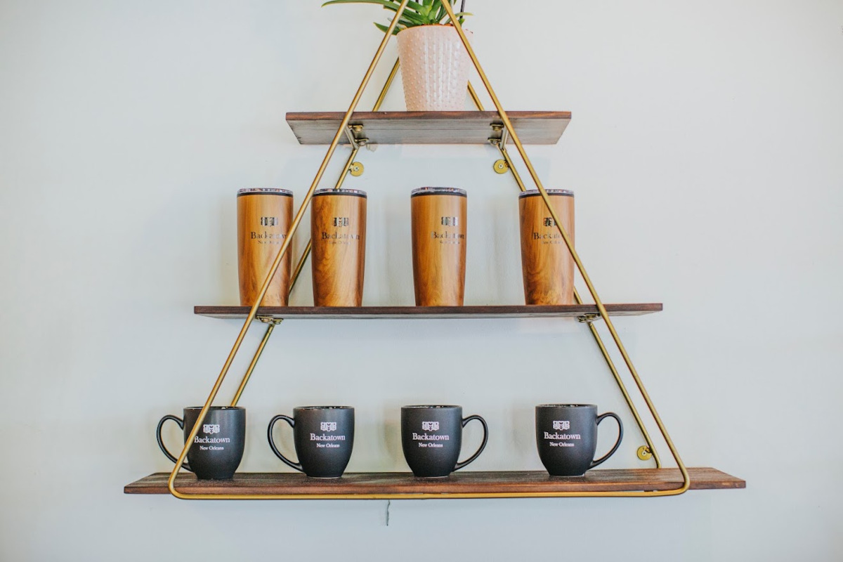 Interior, shelf with cups