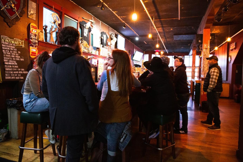 Restaurant interior, restaurant bar area