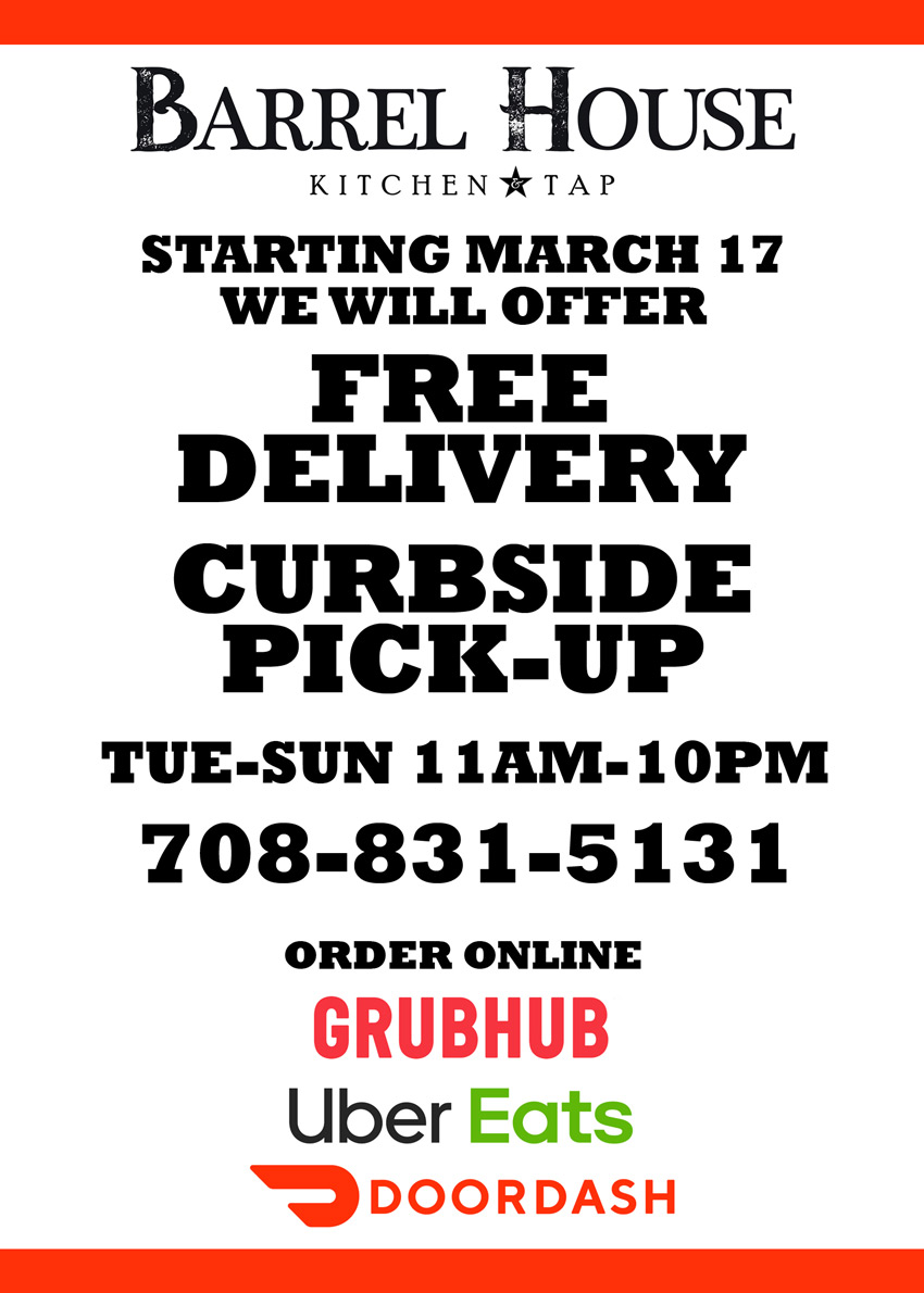 free delivery and curbe side pickup flyer