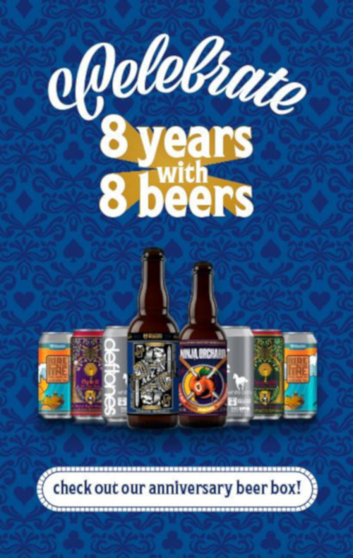 Check out our anniversery beer box