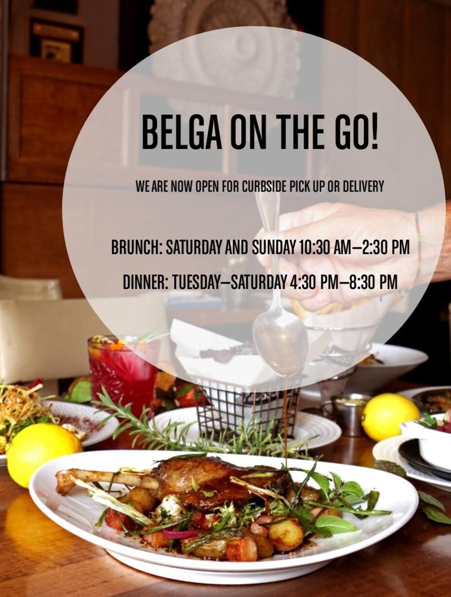 Belga on the Go menu flyer