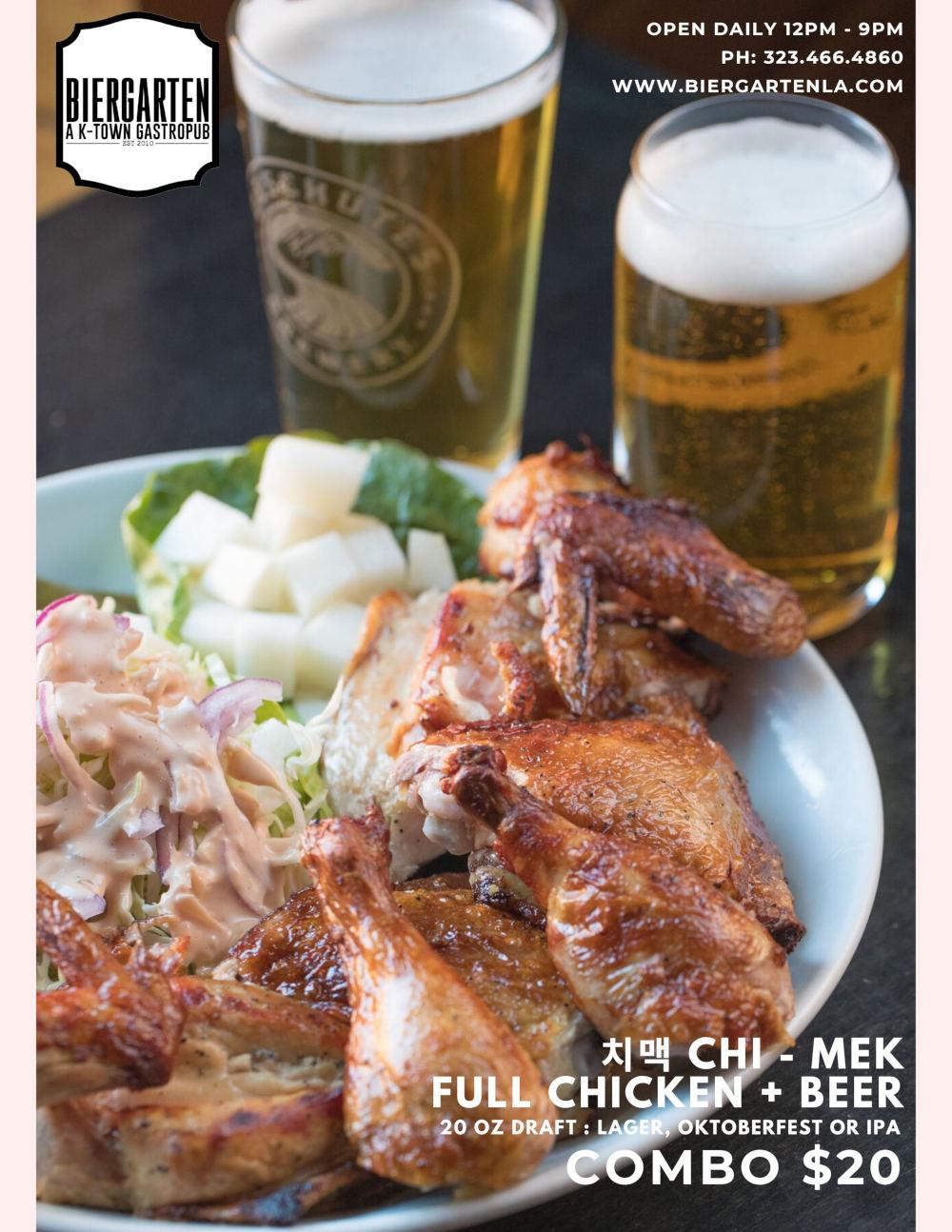 bier, chicken wings