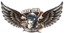 Biker Jim's Gourmet Dogs logo top