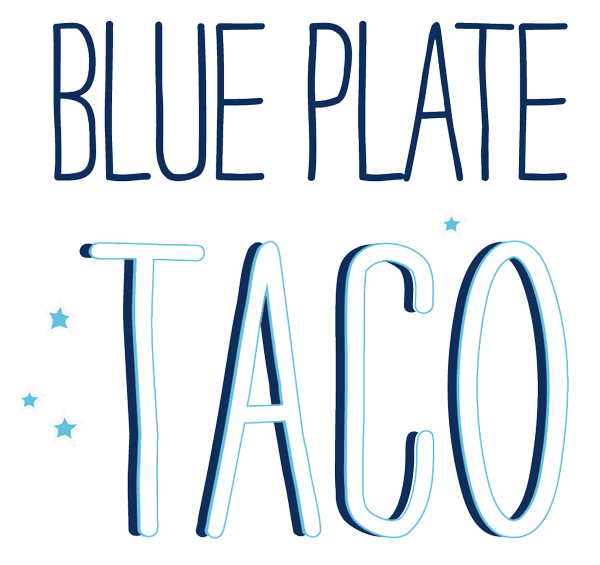 Blue Plate Taco logo scroll