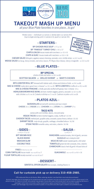 takeout mash up menu
