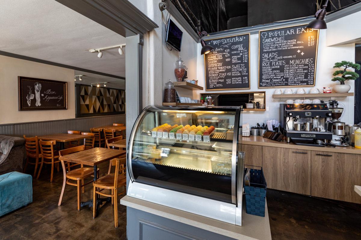 Interior, bar and espresso machine